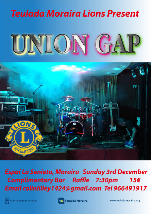 171203 - Sunday, 3 December - TM Lions present Ges Rogers Union Gap