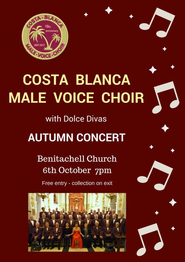 Friday, 6 October- CBMale Voice Choir - Benitachell Church