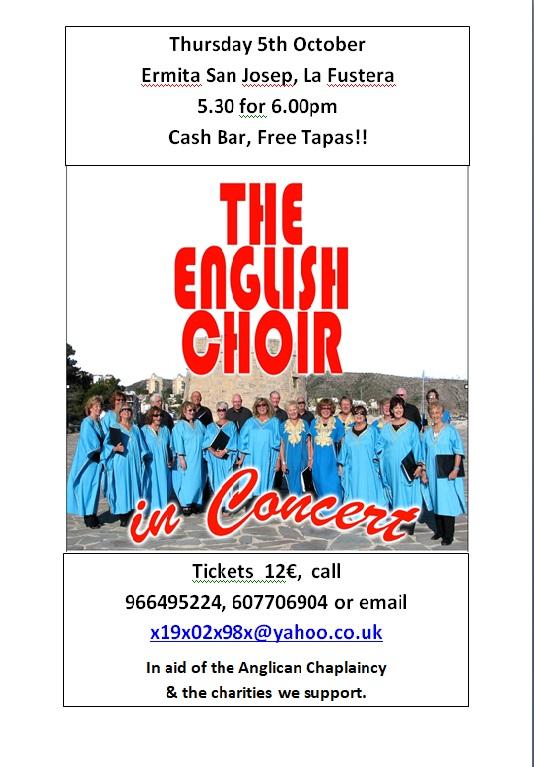 171005-Thursday, 5 October - The English Choir, Ermita San Josep, La Fustera, Benissa