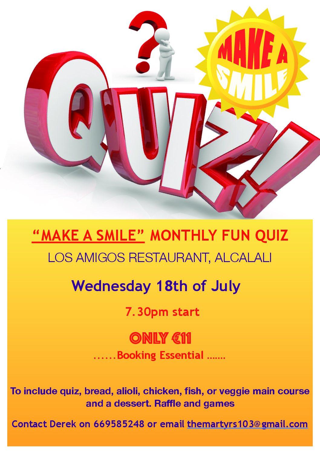 JULY 18 Quiz Poster