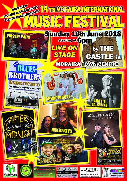 Moraira Music Festival Poster 2018