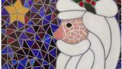 Santa mosaic