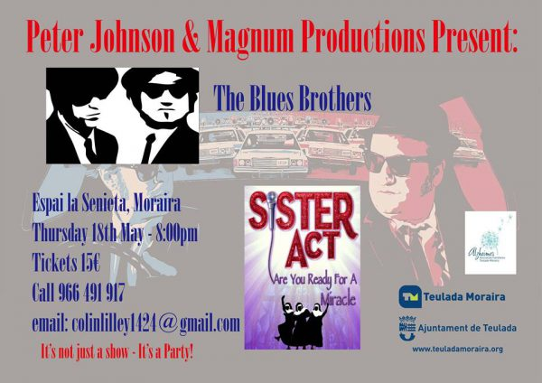 Blues Brothers and Sister Act in aid of Alzheimers Teulada.