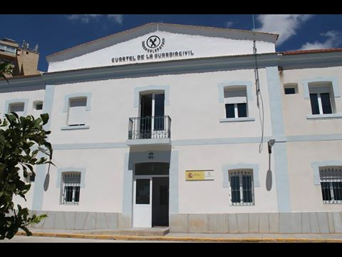 GUARDIA CIVIL OFFICE BACK AT AVENIDA EL PORTET