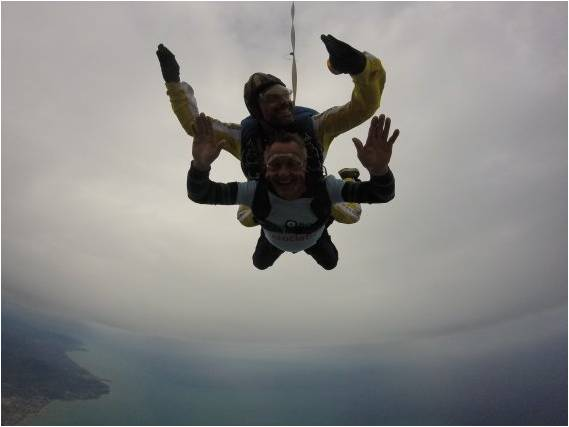 U3A member does sponsored Skydive to raise funds for local RAFA association