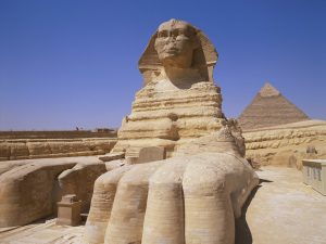 Giza, Egypt --- Great Sphinx --- Image by © Paul Hardy/CORBIS